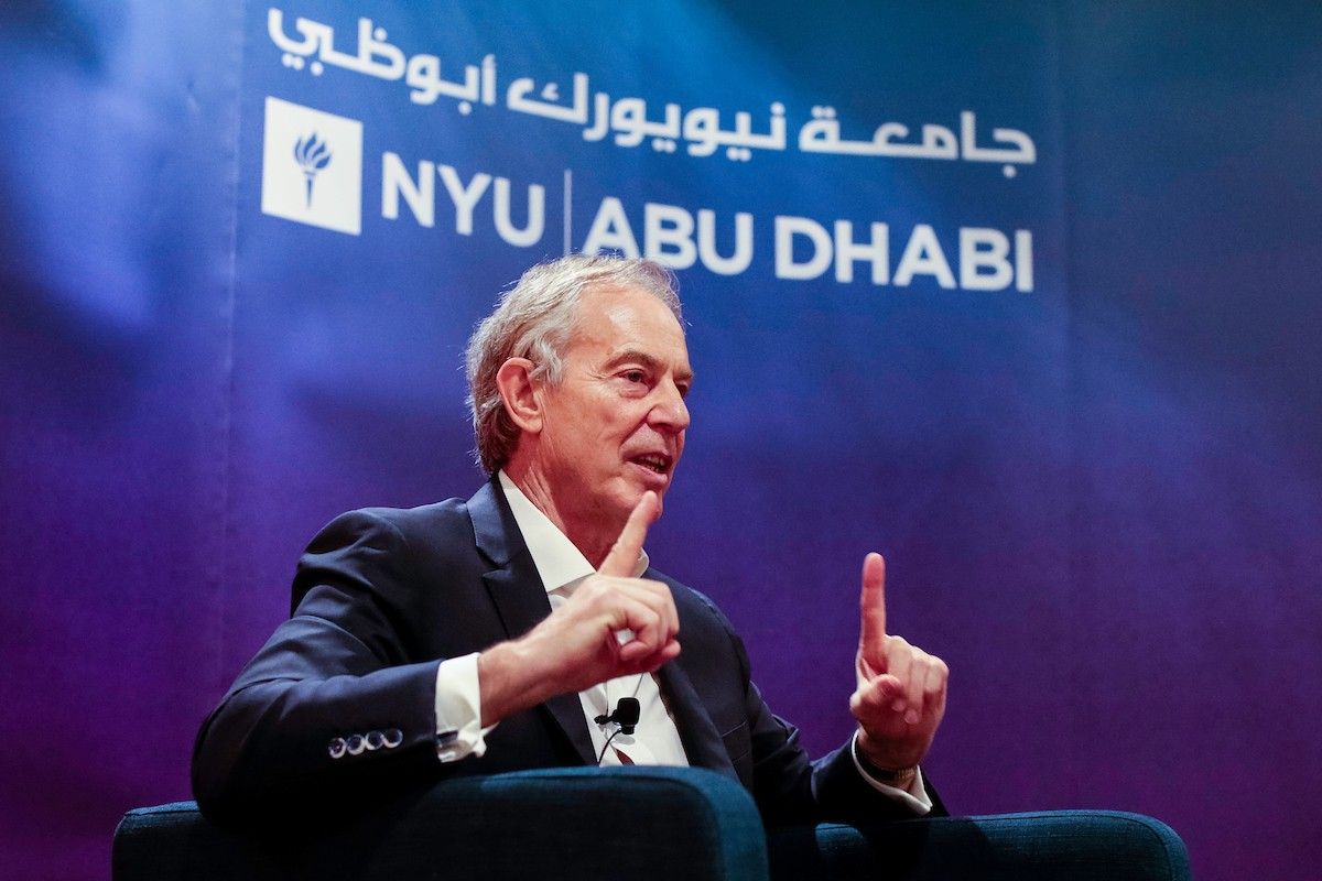Tony Blair in NYU Abu Dhabi