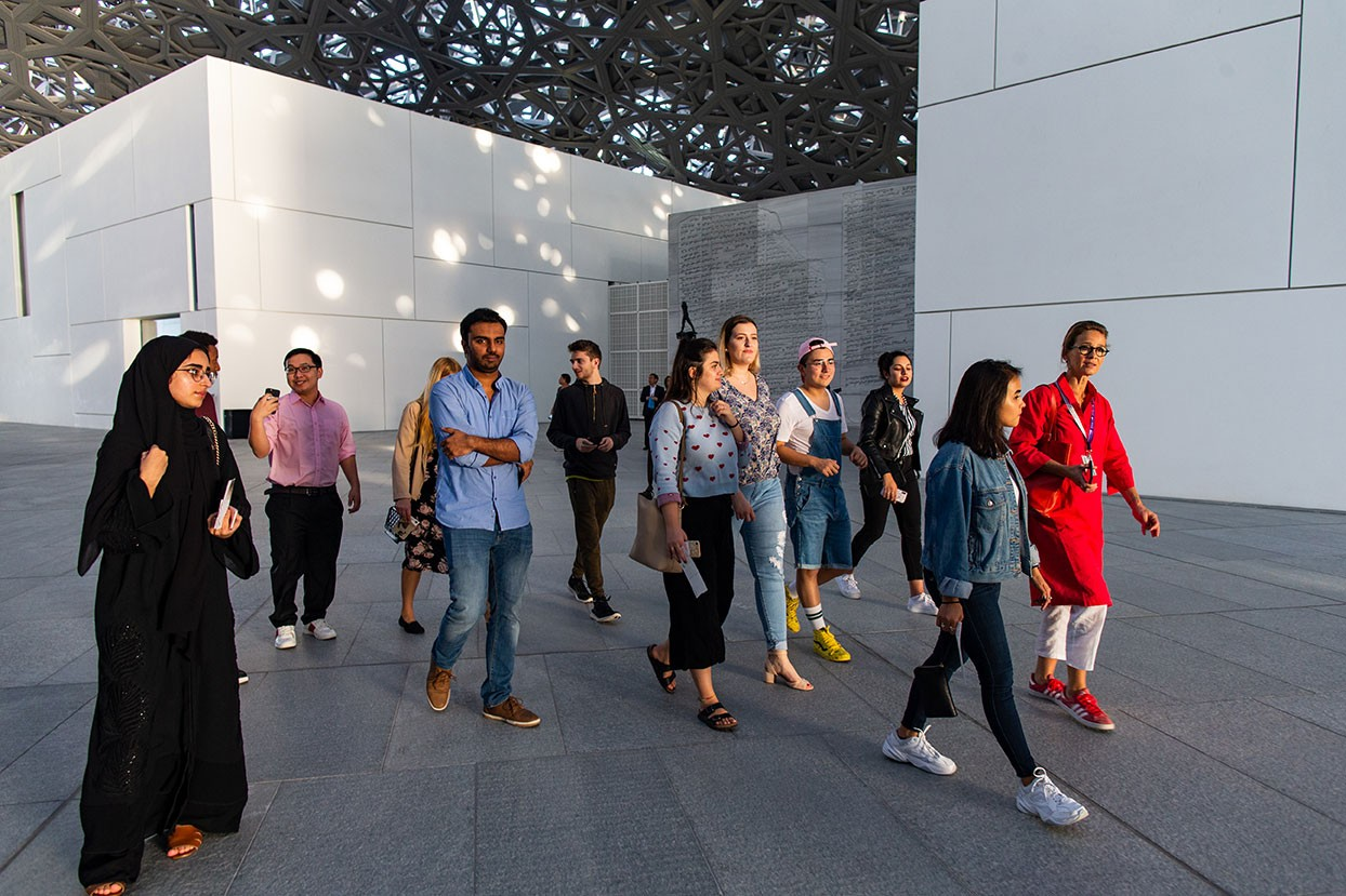 Students visit the Louvre Abu Dhabi.