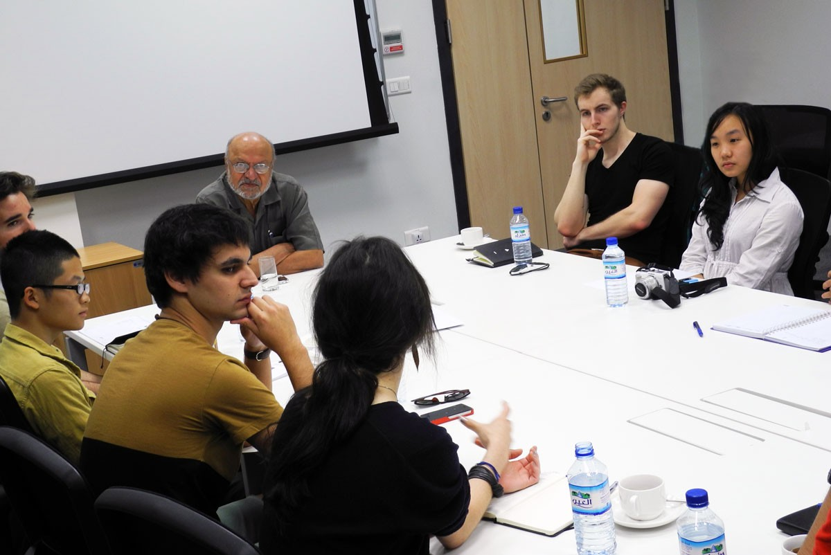 NYUAD and ZU Students Take Master Class with Filmmaker Shyam Benegal