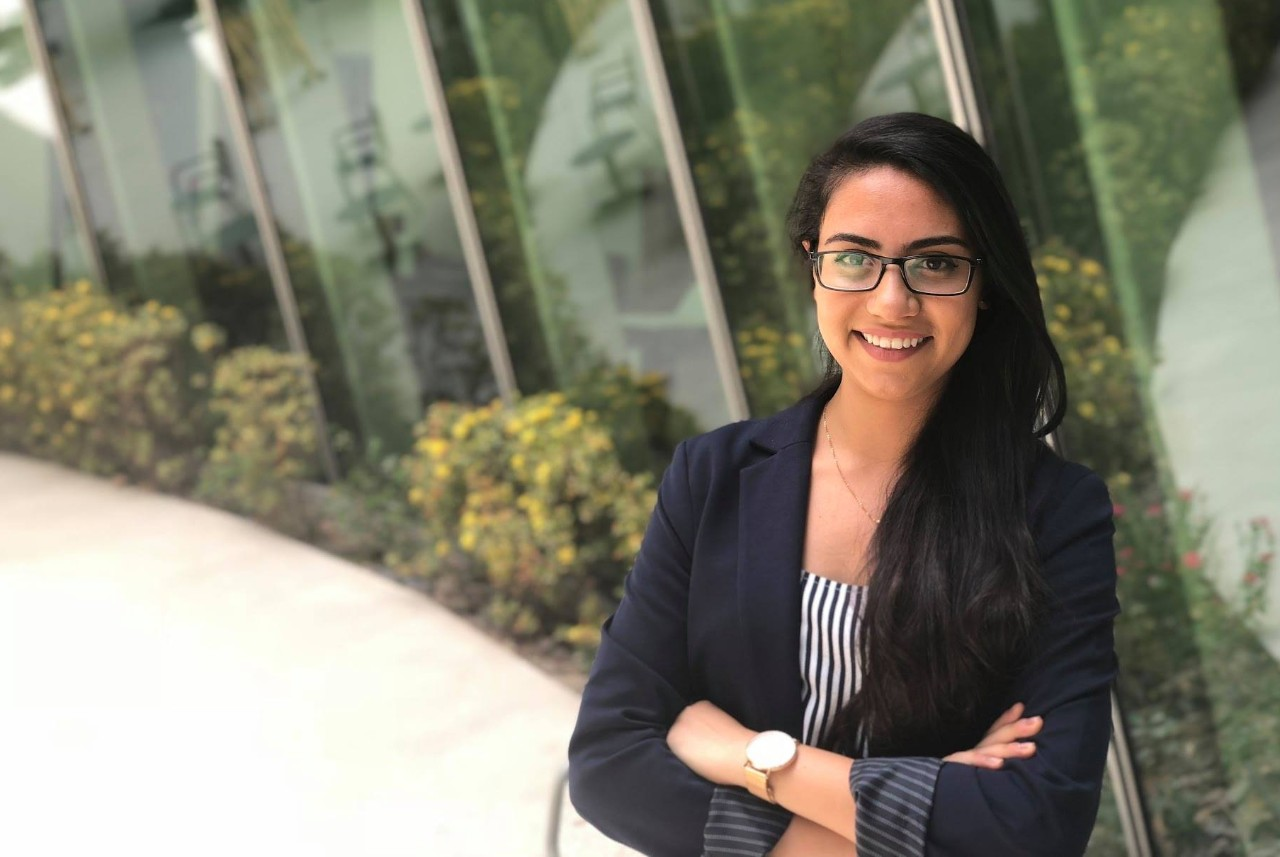 NYU Abu Dhabi Senior Yousteena Bocktor, Class of 2018, selected as Al Ghurair STEM Scholar.