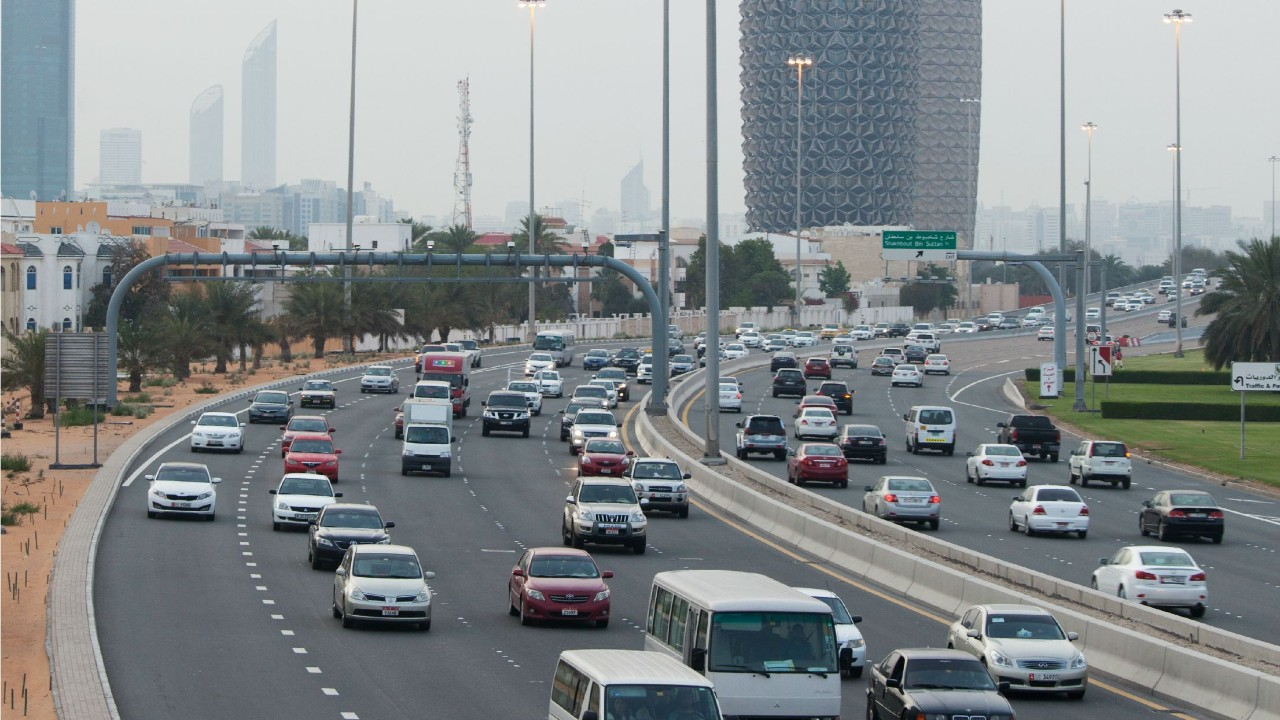 Highway traffic in Abu Dhabi. iStock.com