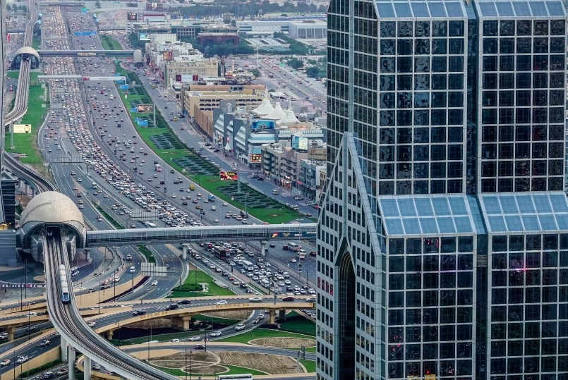 Highway traffic in Dubai. iStock.com