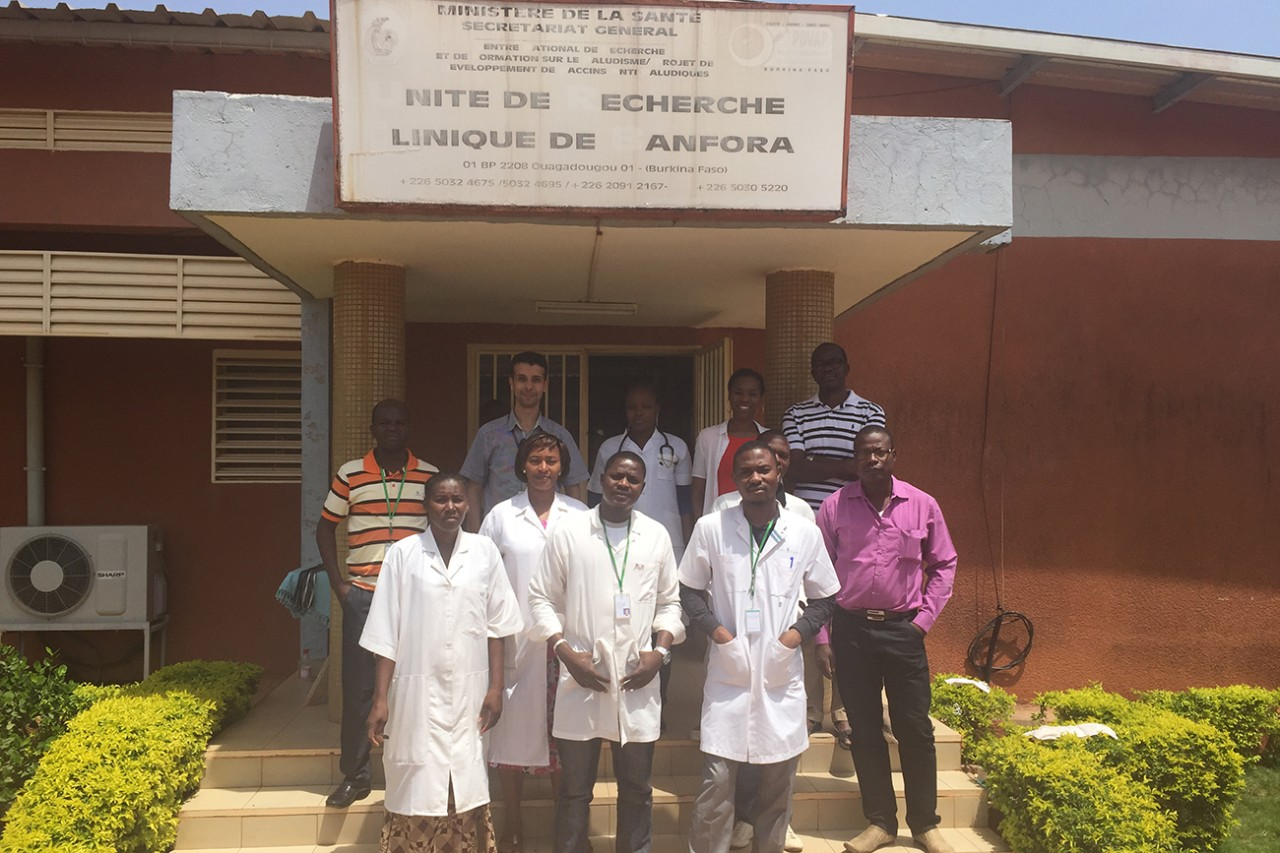 NYUAD conducts research in a rural area of Burkina Faso to study malaria at different stages of infection in children.