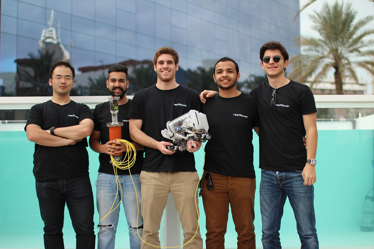 NYU Abu Dhabi Students Unveil reefRover at UAE Drones for Good Award Competition