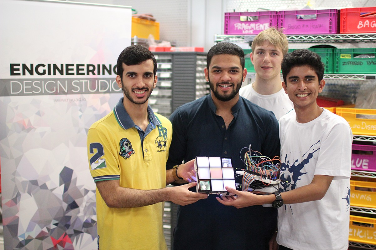 Students win AED 10,000 for a project to bring LED art to underpasses along the Corniche waterfront area in Abu Dhabi.