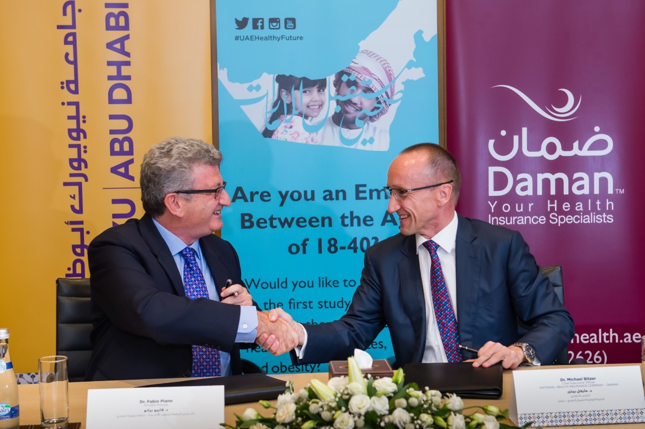 Left to Right_ Fabio Piano, NYU Abu Dhabi Provost and Dr. Michael Bitzer, Chief Executive Officer at Daman 2.jpg