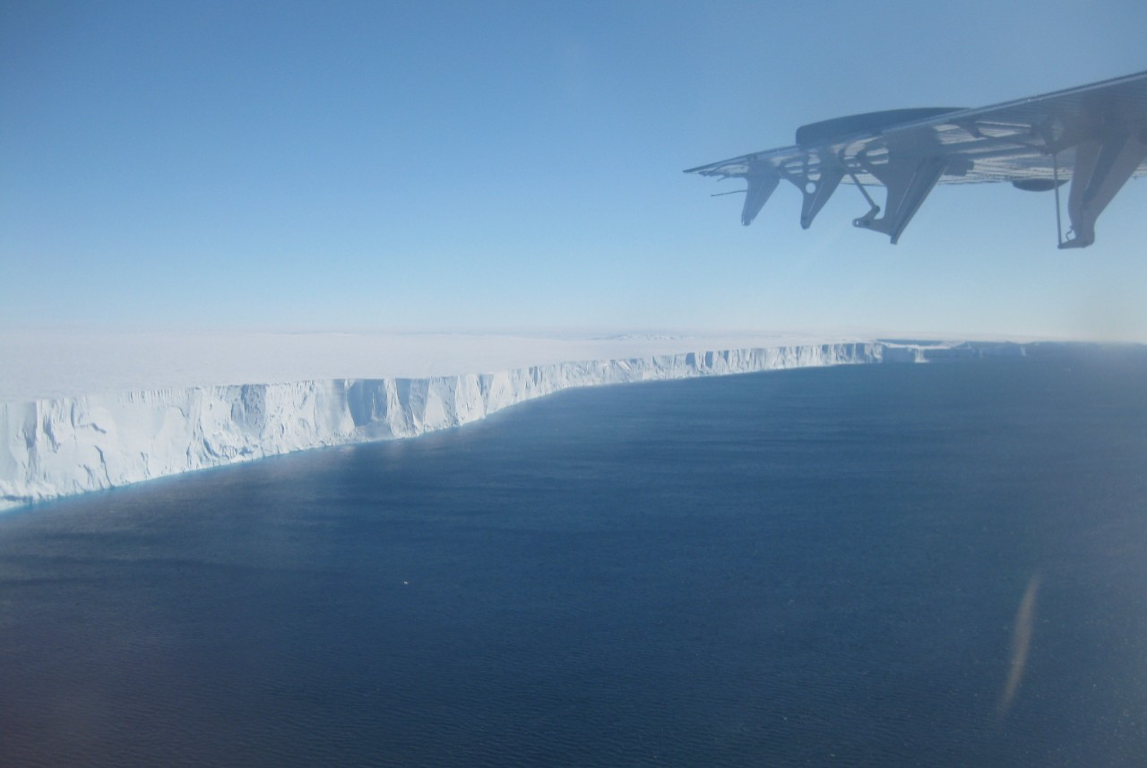 The ice front near the Thwaites Glacier that is part of the Western Antarctic Ice Sheet - photo credit - Denise Holland.JPG