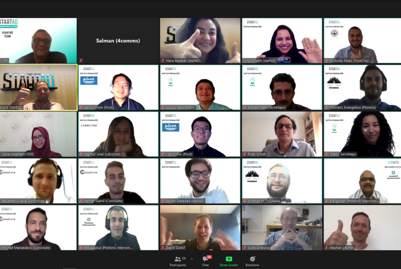 Group photo of all teams at virtual showcase day