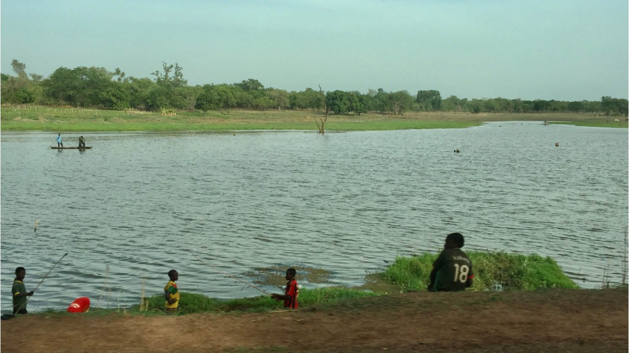 A river in the Comoé province at the southwestern part of Burkina Faso where malaria is endemic