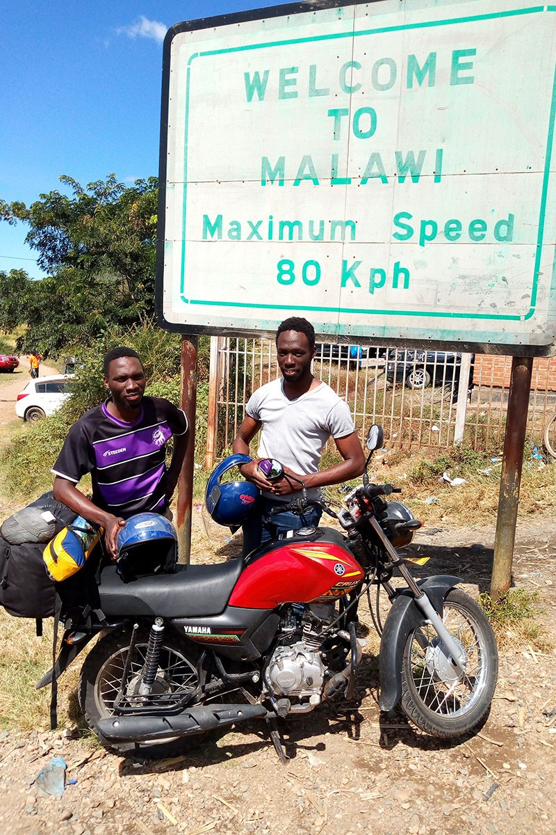 Owor Okoth, left, and Victor Okoth, right, in Malawi. Photo courtesy of Victor Okoth