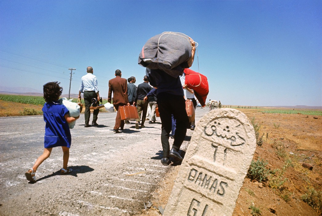 Israel. Syrian inhabitants from Quneitra (Golan Heights) leave from Damascus. 1967.