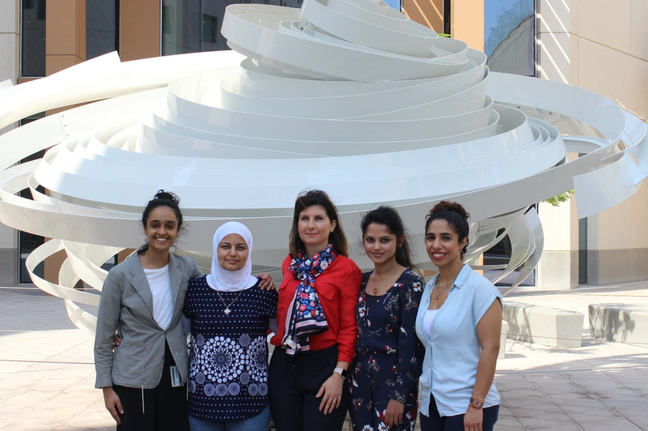 The CGSB team along with the NYUAD Research Outreach and Communication team