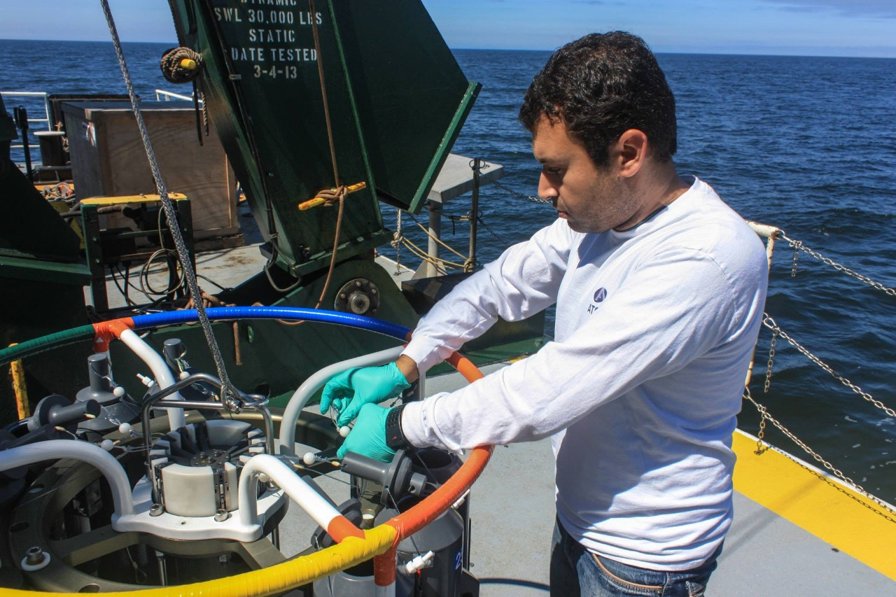 NYUAD Assistant Professor of Chemistry Shady Amin conducts ocean research to find out how millions of tiny organisms communicate with each other, and how those interactions help balance the ecosystem.