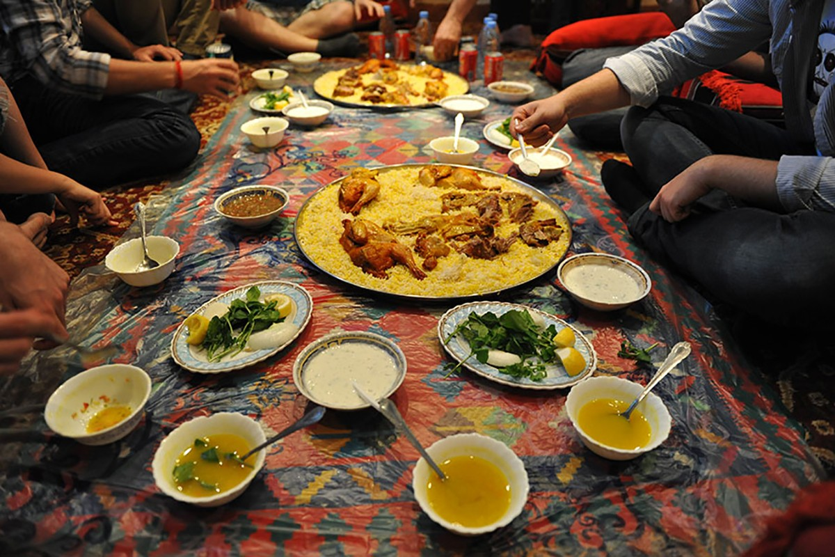 Enjoying an Arabic Meal
