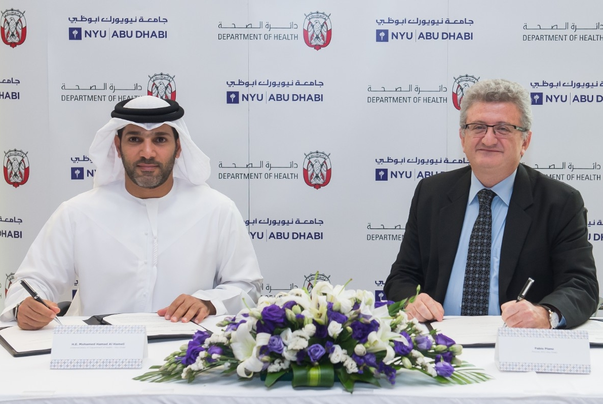 NYUAD Signs Memorandum of Understanding with Department of Health – Abu Dhabi
