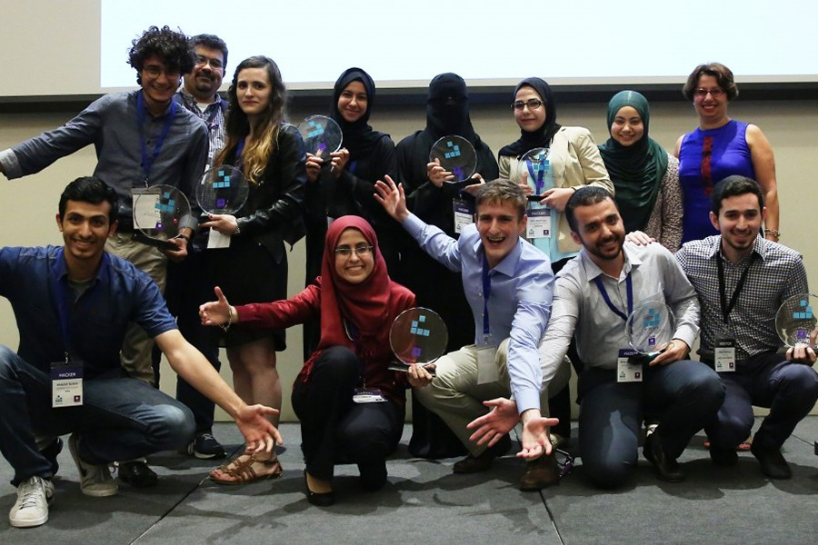 App aimed at crowdsourcing Arabic text digitization takes first place at NYU Abu Dhabi's International Hackathon