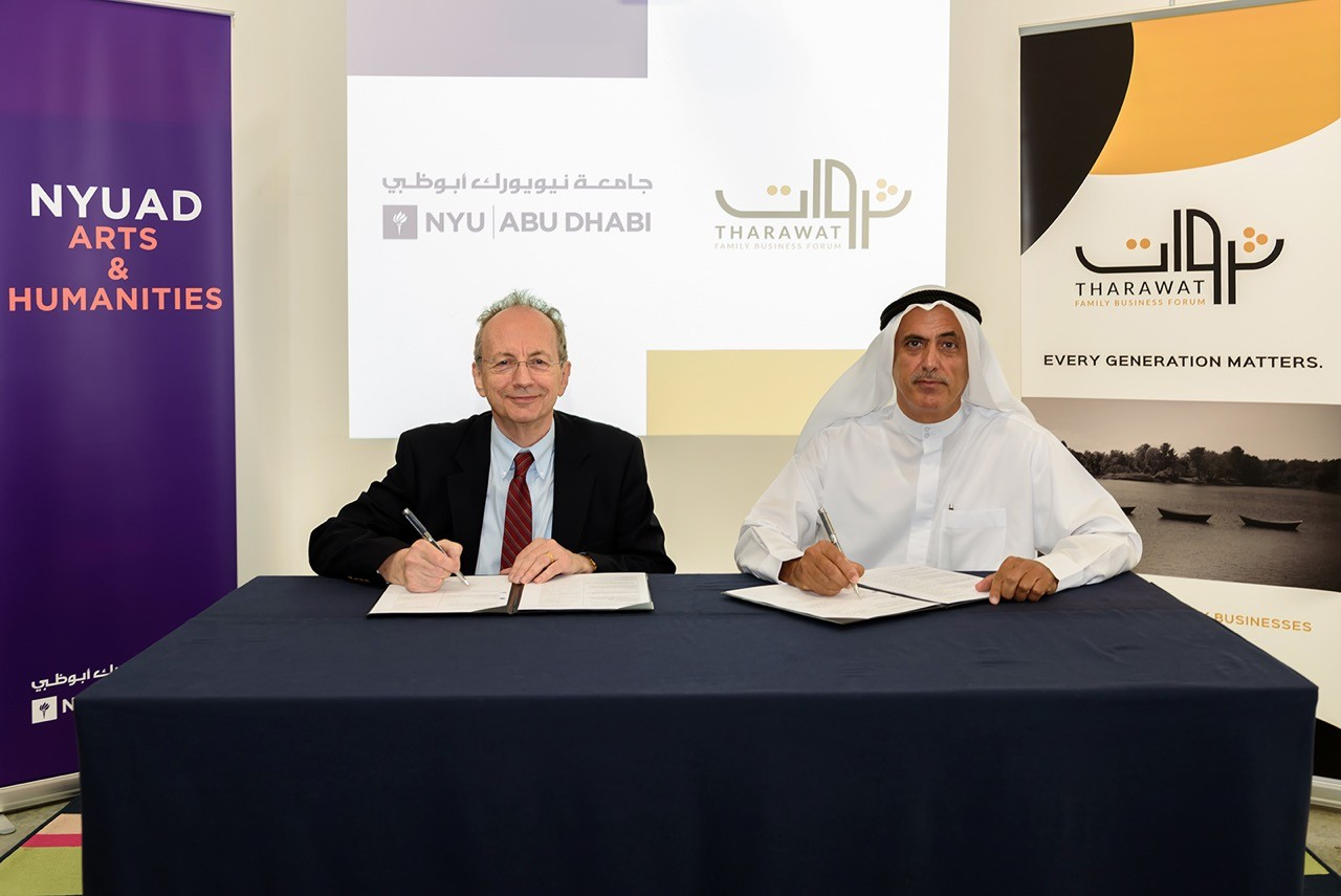 NYU Abu Dhabi and Tharawat Family Business Forum sign a Memorandum of Understanding