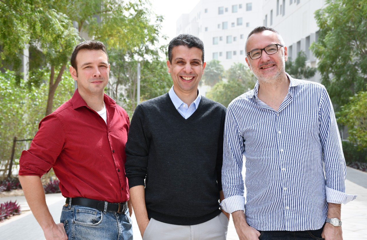 From left, Justin Wilcox, Youssef Idaghdour, and Stéphane Boissinot.